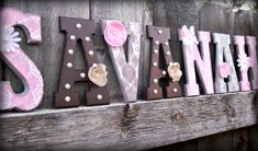 kids room , girls room, nursery, shabby chic , pearls , lace , flowers, pink, white , brown wall decor