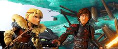 "Hiccup's over there with an awesome flame sword and then there's Astrid with a piece of wood <--- LOVE it! Astrid looks sooo fierce with her piece of wood. <<< I like the look they exchange, like, ""You have your sword?"" - ""Yep. You have a piece of wood."" - ""Yep."" - ""Let's do this."""