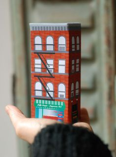 diy kid mini building new york paper toy