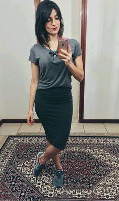 Falda lápiz outfit cómodo #weekend