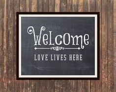 love lives here print - Google Search