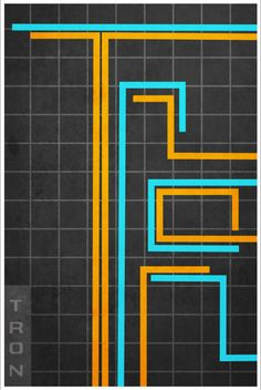 Tron Retro Movie Poster by Harshness