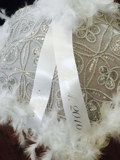 Second Line Umbrella Bride, 1 second line parade silver BLING! Wedding Mardi Gras New Orleans destination, personalized ribbon Parasol