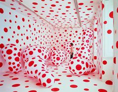 Yayoi Kusama. Well, I couldn't make a board without this lovely lady's work. (What stands out and not, in a world of pattern, shape and repetition?)
