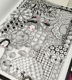 zentangle abstract designs | Design Originals-Zentangle For Kidz - Google Search