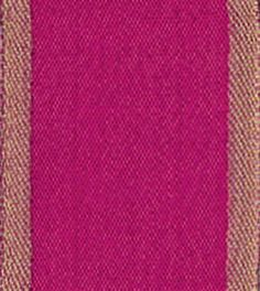 Caspari Entertaining with Caspari Raw Silk Wired Ribbon, Fuchsia | Perfect for Fall