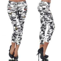 Fehér terepmintás nadrág - Női ruha webáruház 9a90791e4b
