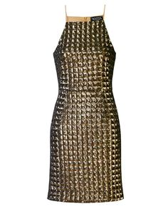 Jenna Dress Gold Armor Sequin Dress