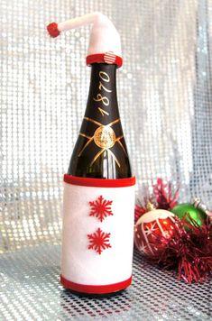 Быстро и просто - декорируем бутылку шампанского! - Ярмарка Мастеров - ручная работа, handmade