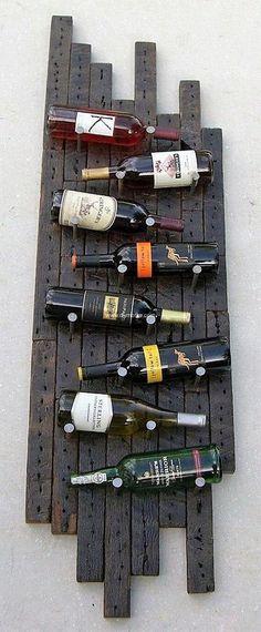 recycled wood pallets bottle storage shelf