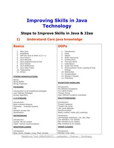 Best Java and j2ee training institute in Chennai  JAVA and J2EE Training in Chennai Enroll for Java Training in Chennai with Metaforum Technologies,Vadapalani. You can contact us via mobile 9894526937 or via email metaforumtechnologies@gmail.com to enroll  Java is one of the most popular Object Oriented Programming language that is available in the IT market for than 20 years now. There are many open sourced products, projects and API's that run on JAVA technology. Since it is platform…
