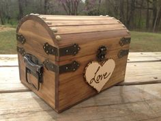 Wooden chest 'wishing well'