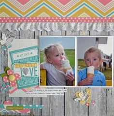 Ice Cream Love *Simple Stories New Vintage Bliss* - Scrapbook.com