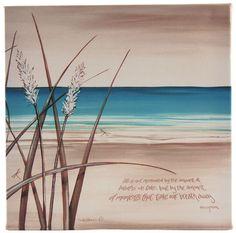 New Lisa Pollock decorative art wall canvas, Seagrass, great gift idea