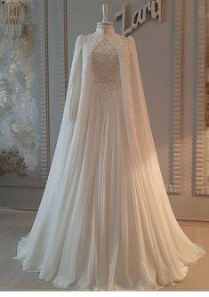 Muslim Wedding Gown, Wedding Dress Bustle, Muslimah Wedding Dress, Tulle Prom Dress, Wedding Dress Sleeves, Dream Wedding Dresses, Wedding Gowns, Prom Dresses, Hijab Wedding Dresses
