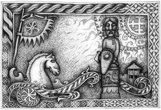 Bialy rumak Bozyca by on DeviantArt Vikings, Medieval, Horses, Deviantart, Drawings, Handmade, Knots, Artists, Facebook