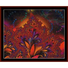 Fractal 441 Cross Stitch Pattern By Cross Stitch Collectibles