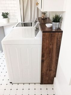 16 Borderline Genius Home Improvement Projects That Are Easi.- 16 Borderline Genius Home Improvement Projects That Are Easier Than They Look cover ugly laundry room wires with stained wood frame - Laundry Room Shelves, Laundry Room Remodel, Laundry Room Design, Laundry In Bathroom, Basement Bathroom, Laundry Room Wall Decor, Ideas For Laundry Room, Basement Kitchen, Small Laundry Rooms