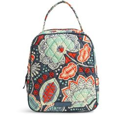 Vera Bradley Lunch Bunch Bag ($17) ❤ liked on Polyvore featuring bags, handbags, nomadic floral, zipper bag, zipper purse, floral handbags, paper purse and floral print purse