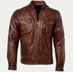 Oasis Brown Men Smart Casual Retro Vintage Real Soft Sheep Leather Jacket