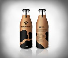 ... milk, bottle, low fat, packaging, logo, identity, spots, ...