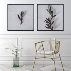 Beautiful natural white interiors with a subtle pop of colour featuring the Vygie print set 🌿 Art Prints For Home, Botanical Wall Art, Basket Decoration, Nature Prints, Leaf Art, Fine Art Photography, Nature Photography, Photographic Prints, Wall Art Prints