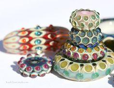 Borosilicate glass beads by Clover S.W. - 3LeafCloverStudio.com