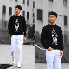 Get this look: http://lb.nu/look/8566989  More looks by Daniel Poon: http://lb.nu/danielpoonvignez  Items in this look:  Quipster Sweatshirt, Dresslily Jeans   #casual #sporty #street