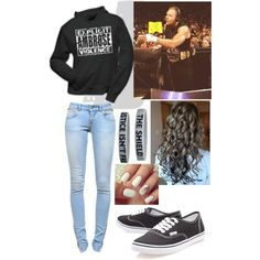 """""""On Commentary With Dean Ambrose"""" by alyssaclair-winchester on Polyvore"""