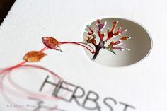 der kleine klecks Herbstzeit Herbst-Trio von Charlie & Paulchen, Aquarell