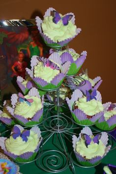 Cupcakes at a Butterfly Party #butterfly #partycupcakes
