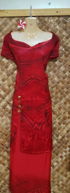 Island Wear, Island Outfit, Samoan Dress, Island Style Clothing, Hawaiian Wear, Luau Dress, Polynesian Designs, Event Dresses, Jaba