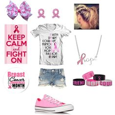 """""""breast cancer awareness outfit"""" by missbri2000 on Polyvore"""