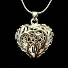 SS filigree heart pendant 22 inch ss snake chain. NWOT. ITEM 284 Jewelry