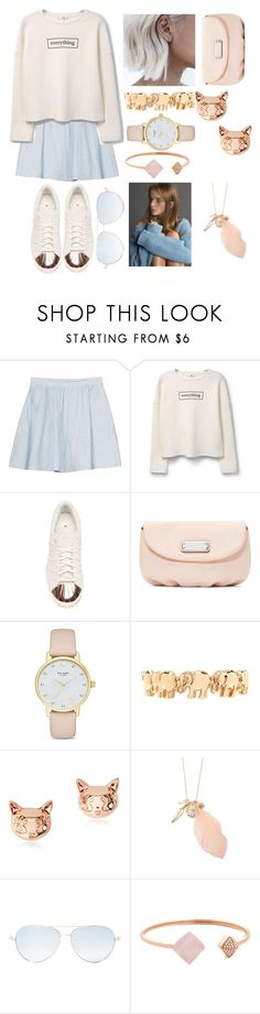 """""""No sleeping in on Sunday"""" by polysetter-862 ❤ liked on Polyvore featuring Joie, MANGO, adidas, Marc by Marc Jacobs, Kate Spade, Forever 21, Matthew Williamson and Michael Kors"""