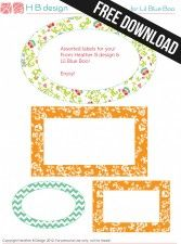 Free Download: Assorted Labels Made to Match Home Management Binder Printables by Heather B Design via lilblueboo.com