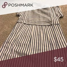 Madewell navy and white stripe dress Great summer dress! Madewell Dresses