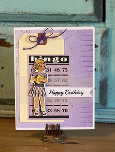Maggie Jane paper and paper doll from Family Fun collection. Scrapbook Paper Crafts, Scrapbook Cards, Scrapbooking, Birthday Cards For Men, Happy Birthday, Kids Cards, Craft Cards, Bingo Board, Paper Trail