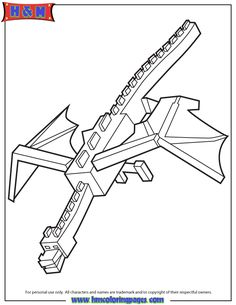 Cool Ender Dragon Coloring Page