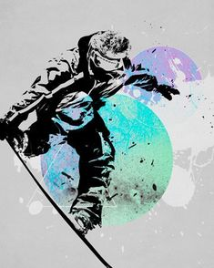 Snowboard Splash- snowboard themed Canvas Wall Art by WP House. $159