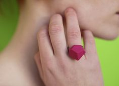 Items similar to Red Geometric ring Industrial Architecture, Gift Wrapping Services, Urban Industrial, All The Colors, Jewelry Collection, Minimalism, Fancy, Jewellery
