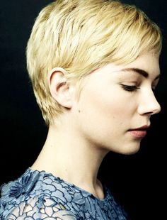 Side view of Short Pixie Cut with Side Swept Bangs - Pretty Designs