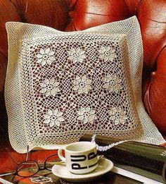Beautiful Crochet Lace Pillow