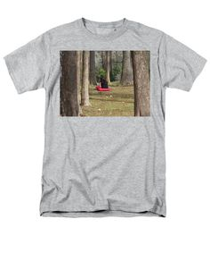 Lunch Time Men's T-Shirt (Regular Fit) featuring the photograph Through The Trees by Cynthia Guinn