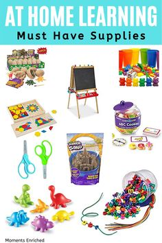 Teaching your child at home can be stressful when you are trying to work and take care of the house. What makes it easier is having the right supplies! Check out all of the MUST HAVE supplies to your kiddos entertained and educated while you are schooling at home! #homeschool #preschoolathome #bestschoolsupplies #playathome #stayhome #remotelearning #homeschooling Toddler Fine Motor Activities, Toddler Arts And Crafts, Indoor Activities For Toddlers, Kindergarten Activities, Kid Friendly Paint, Best Educational Toys, Art Easel, Modern Toys, Preschool At Home