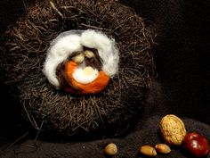 Betlém, ruční práce, vánoční výzdoba, needle felting Coconut, Fruit, The Fruit
