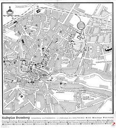Plan Bydgoszczy z czasów okupacji niemieckiej. Zamieszczony w informatorze turystycznym z 1941 r.