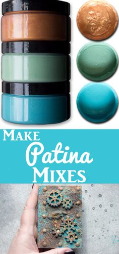 Make Patina Mixes! With Heather Tracy for Graphics Fairy. Great craft technique … Make Patina Mixes! With Heather Tracy for Graphics Fairy. Great craft technique for making your own grungy patina solutions! beading basics and other shit I should know Graphics Fairy, Fun Crafts, Diy And Crafts, Arts And Crafts, Painting Tips, Painting Techniques, Mixed Media Techniques, Mixed Media Tutorials, Decoupage