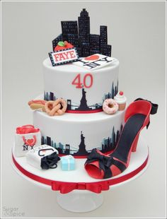 A New York 40th ... - Cake by Sugargourmande Lou