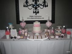 Full image of dessert table for Cancer Benefit